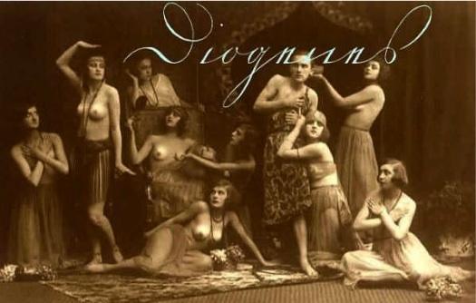 Postal orientalista con bailarinas.