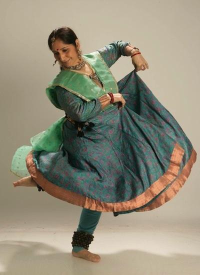Danza Kathak con Uma Dogra.