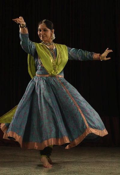Uma Dogra, maestra de Kathak.