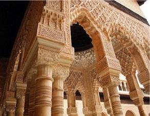 Alhambra, patio de los leones. Granada.