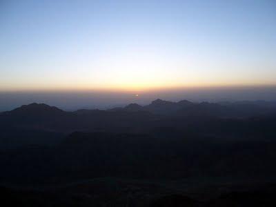 Amanecer en el monte Sinaí