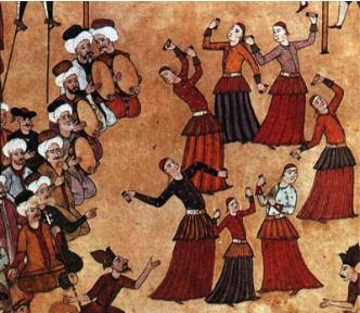 Bailarines árabes.