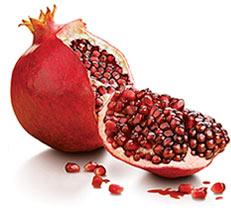 Fruta de la granada.