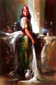Mujer gitana. Reino del fuego.