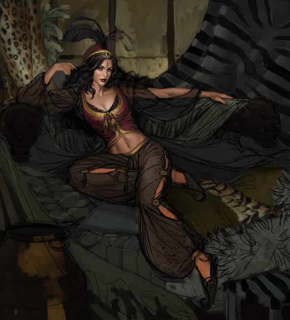 Mujer del reino de la tierra.