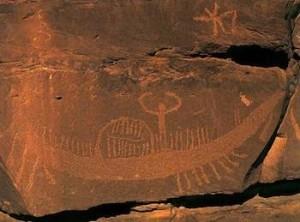 Petroglifo de Wadi Barramiya (4.000 a.C)