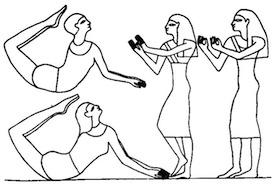 Bailarines Antefoker. Danza gimnástica del Antiguo Egipto.