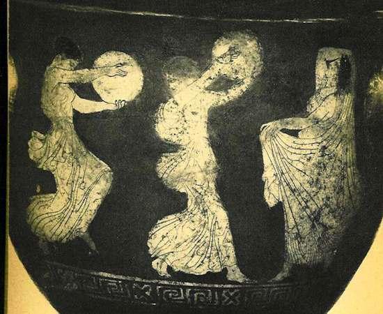 Bailarinas tocando panderos. 450 a.C. Música y danza en el Antiguo Testamento