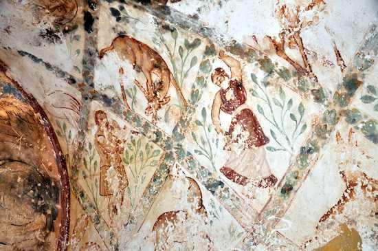 Músico y Bailarina en el apodyterium de Qusayr Amra. 711-715 (Imagen: David Gutiérrez)