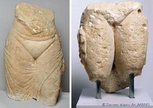 Bailarinas del Palacio de Qusair Mushatta (Jordania). 743-744 (Museo Arqueológico de Amán. Jordania / Museo del Arte Islámico del Museo Pergamón. Berlín. Alemania)