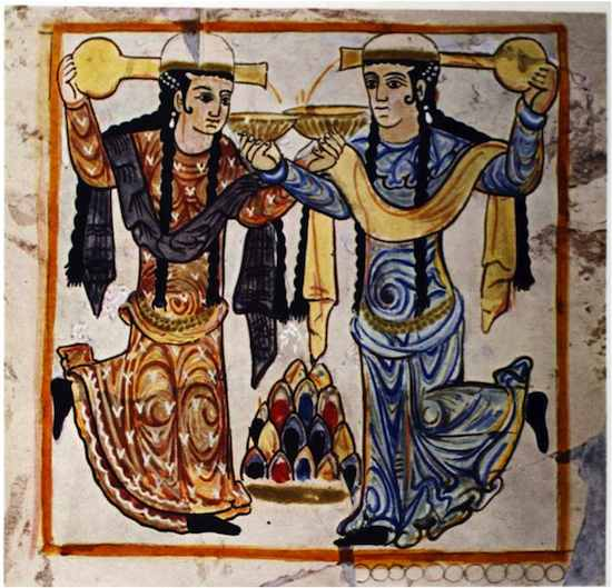 Bailarinas Samarra. Arte Omeya