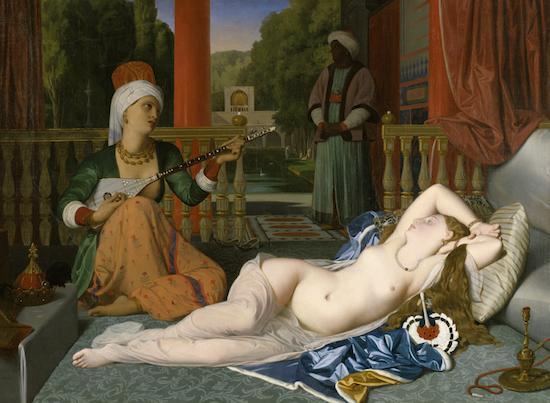 Odalisca con esclava. Jean Auguste Dominique Ingres. 1842 (Museo Walters, Baltimore, EEUU)