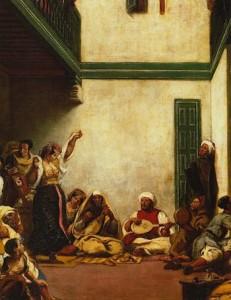 Boda judía en Marruecos (detalle). Eugène Delacroix. Hacia 1839. (Museo del Louvre. París)