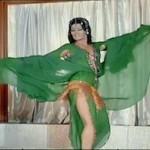 Nagwa Fouad, traje verde de danza egipcia