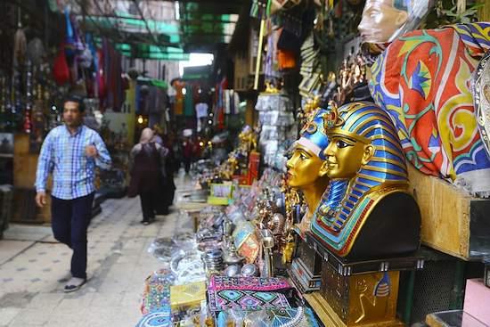 Bazar Khan el-Khalili en El Cairo, Egipto