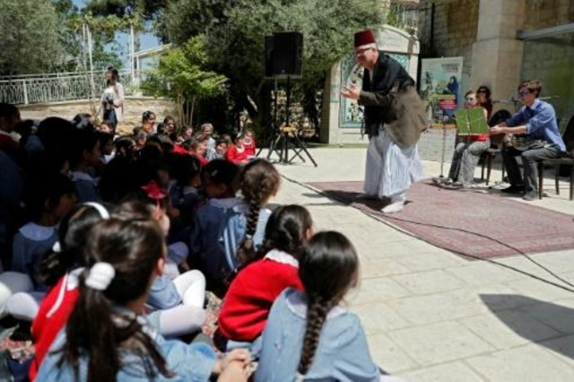 Teatro para niños refugiados palestinos