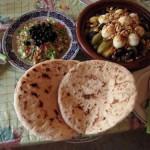 Comida típica marroquí.